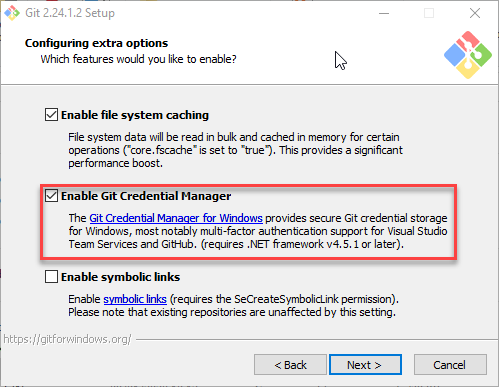 Enable Git Credential Manager