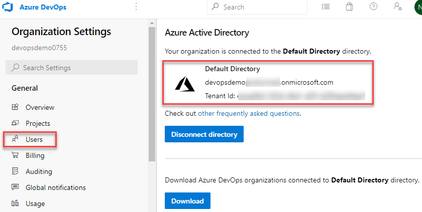 Azure AD Connected